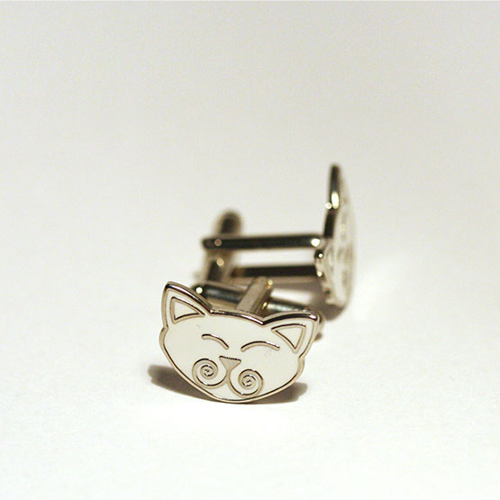 Viking Cats cuff links / Viking Cats manchetknapper 19 x 14 mm.