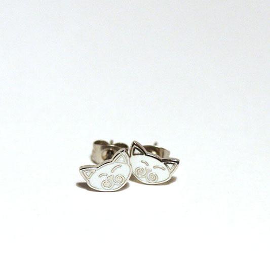 Viking Cats earrings / Viking Cats øreringe 9 x 5 mm.